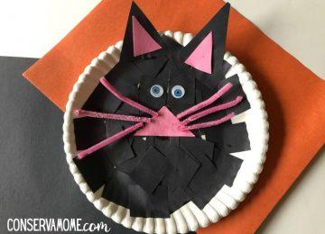 Black cat paper plate fun