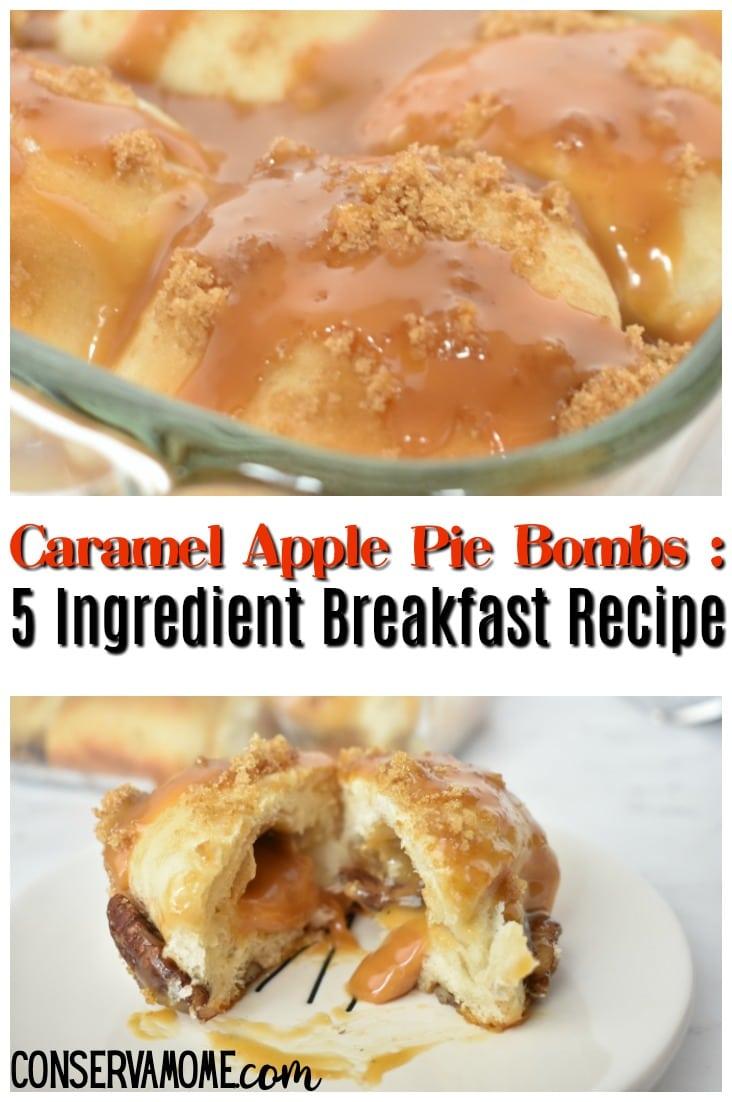 Caramel Apple pie bomb