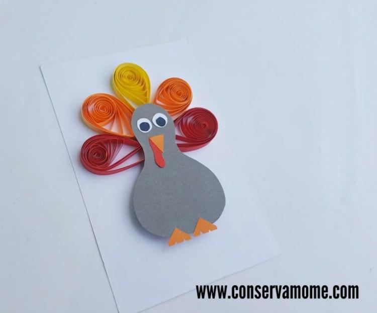 Quilled Turkey Craft