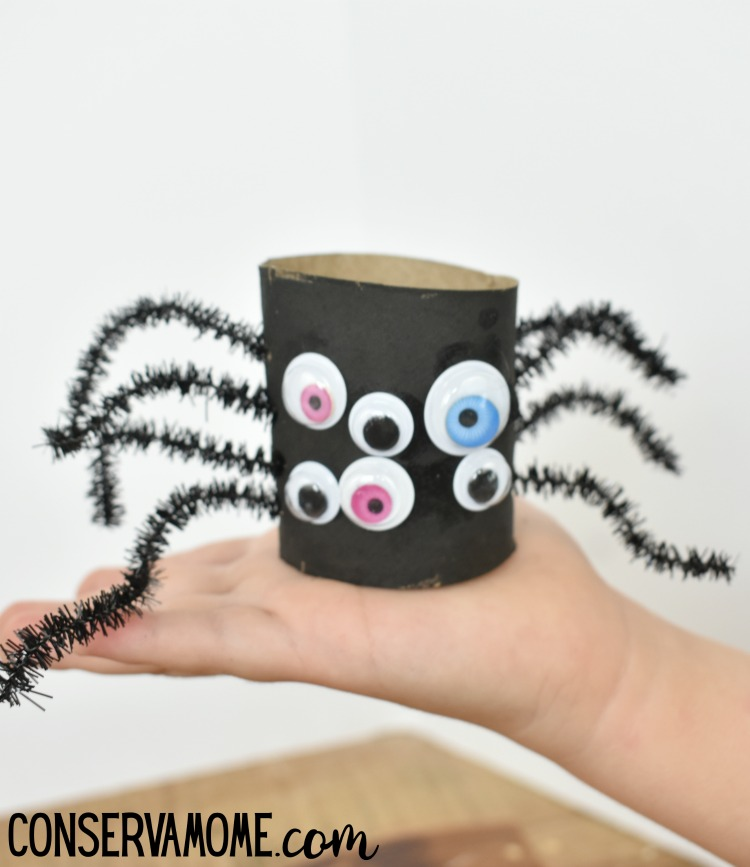 Spider Toilet paper roll craft