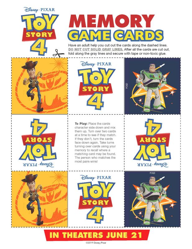 Toy Story Memory Game