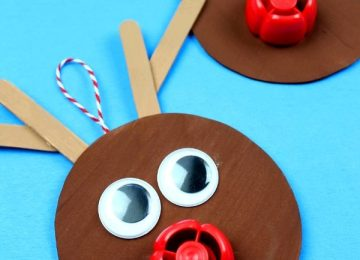 Super Simple Recycled Reindeer Ornament