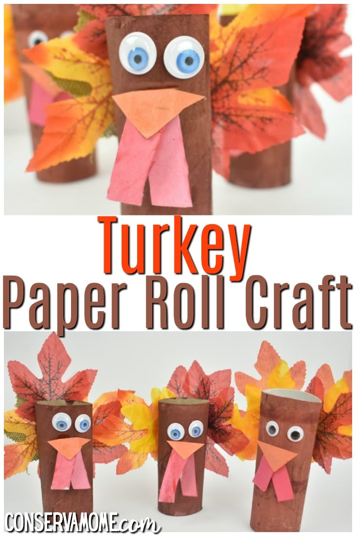 Turkey Paper Roll Craft: Thanksgiving craft idea