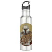The Mandalorian Desert Sunset Group Art Stainless Steel Water Bottle