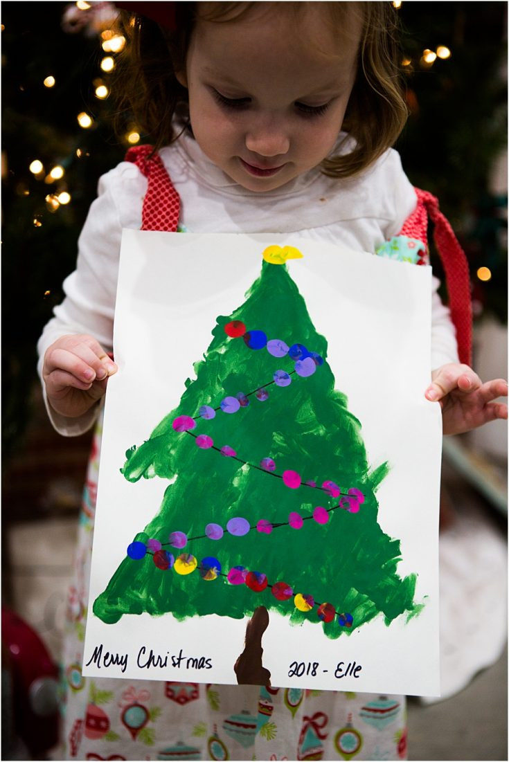 Christmas Fingerprint Tree