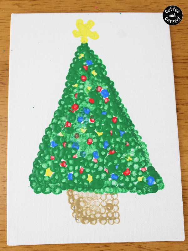 Christmas Art with Pointillism