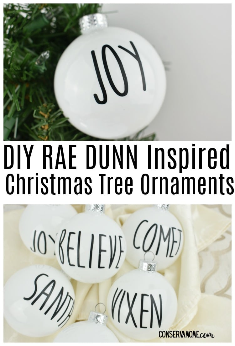 Rae Dunn DIY Christmas Tree Ornaments