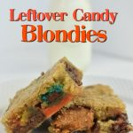 Leftover candy blondies