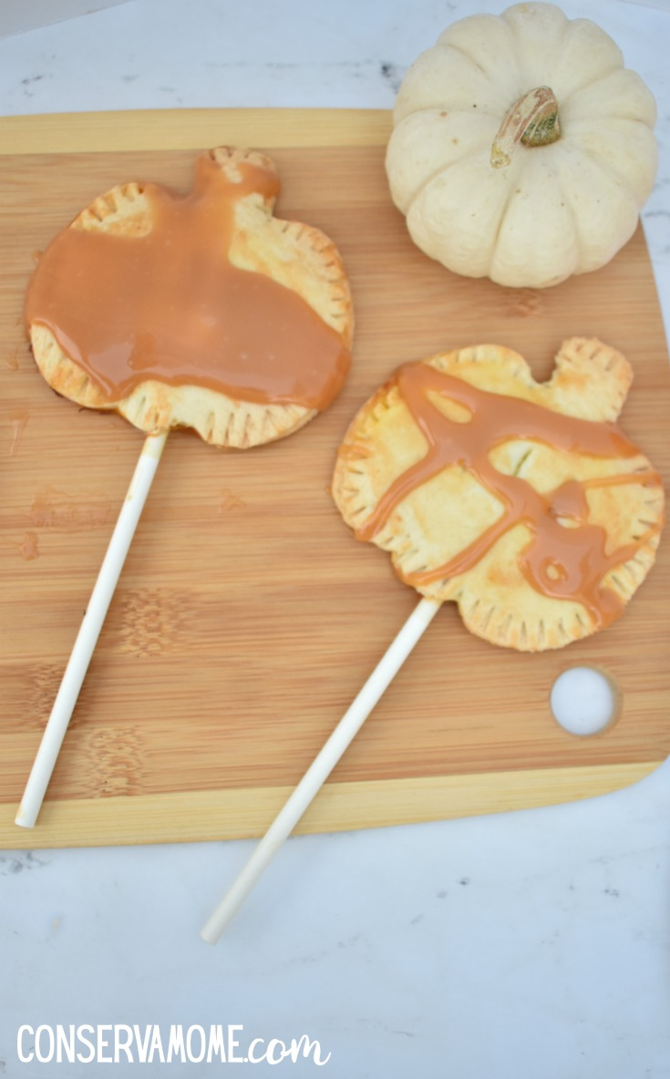 Pumpkin hand pie on a stick