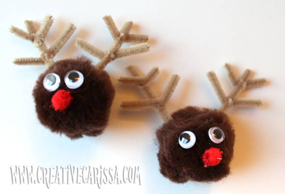 Make Reindeer Pom-Pom Magnets