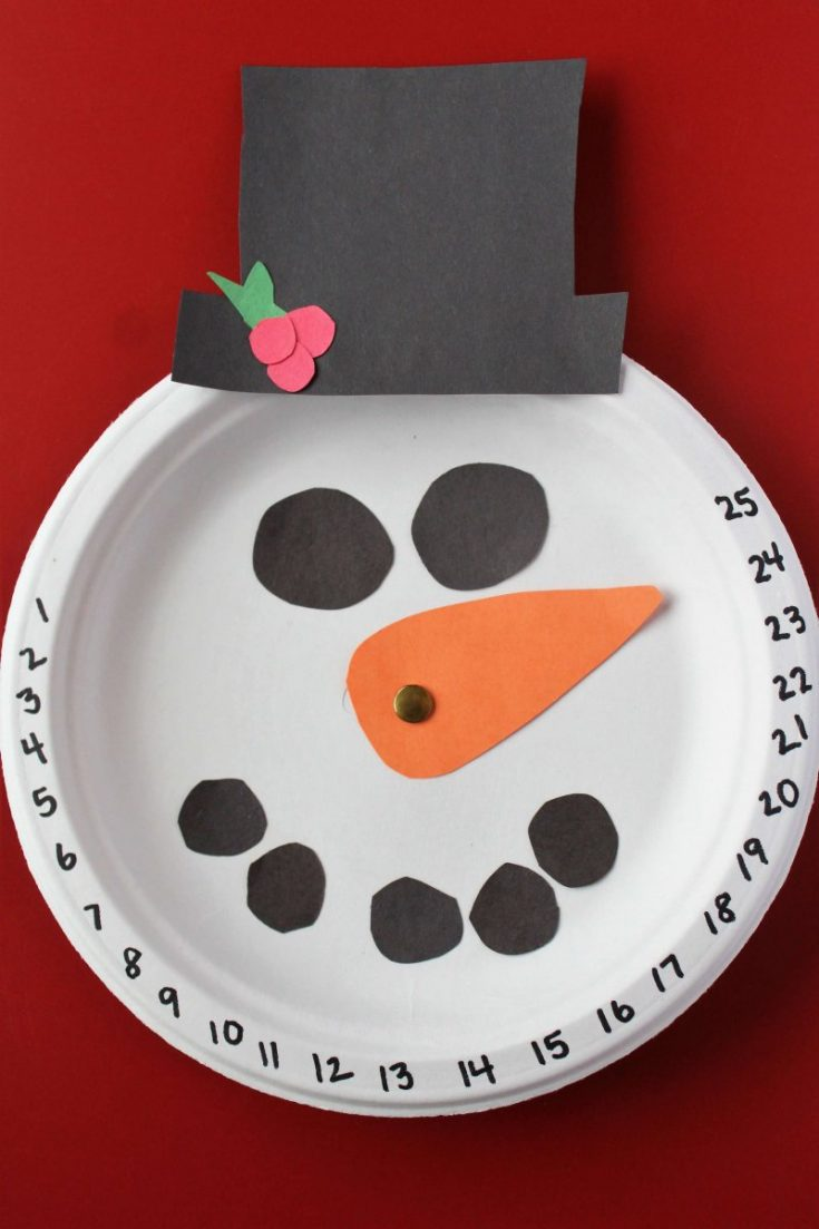 Snowman Christmas Countdown Craft