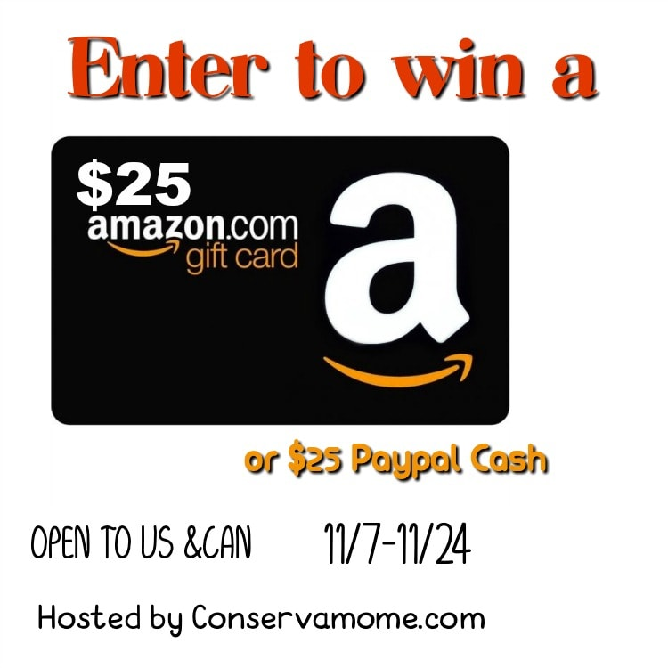 Enter to win a $25 Amazon Gift Card!