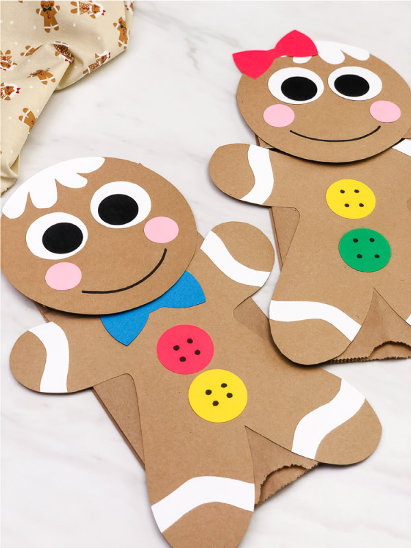 Gingerbread Man Paper Bag Puppet Craft