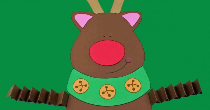 Free Printable Reindeer Craft with Accordion Legs