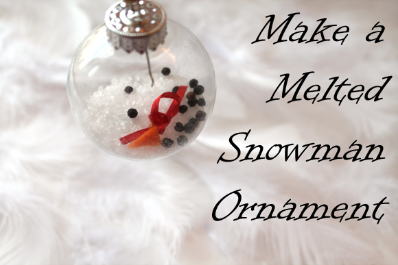 Melted Snowman Christmas Ornament