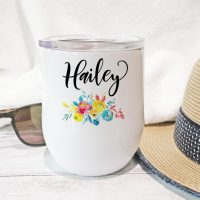 Personalized Tumbler Floral- From Zookabo