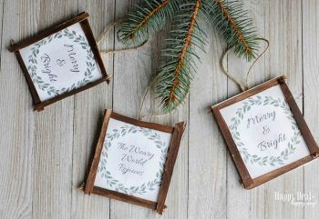 Free Printable DIY Rustic Christmas Ornaments!