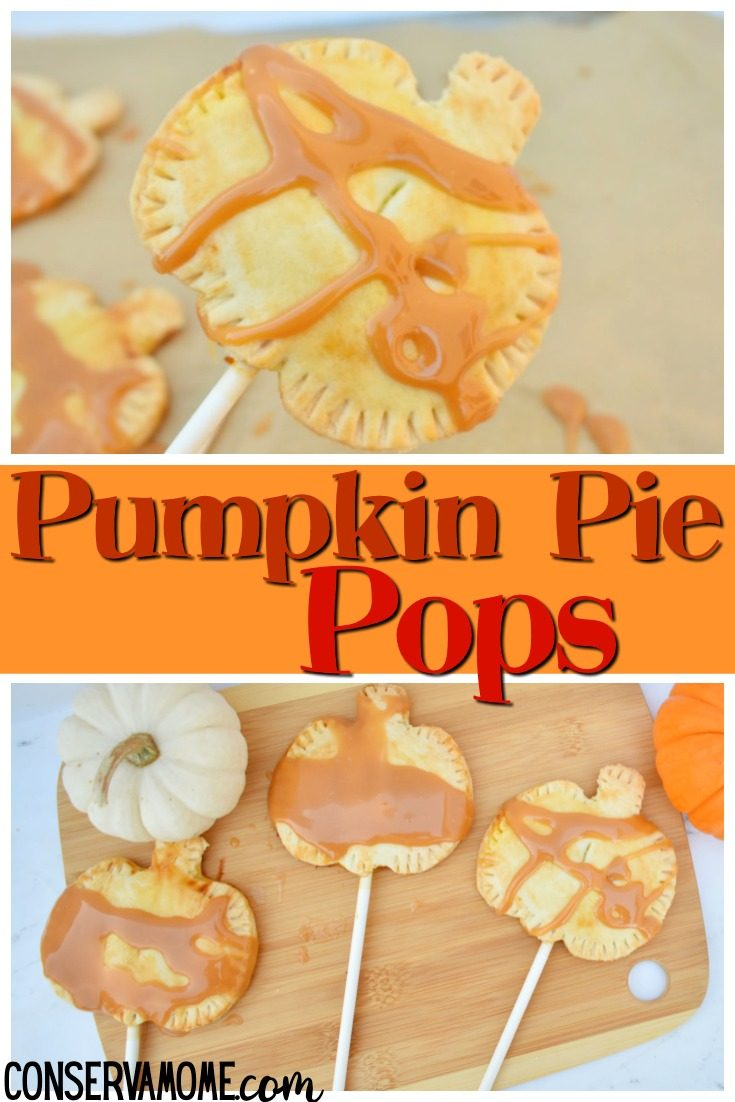 These delicious Mini Pumpkin Hand Pies Recipe will be a huge hit this fall. These sweet little Pumpkin Pie Pops filled with a delicious pumpkin filling have a homemade caramel drizzle everyone will love. An easy fall dessert idea that looks complex, yet couldn't be easier to make. #pumpkinpiepops #pumpkinhandpies #pumpkinpie