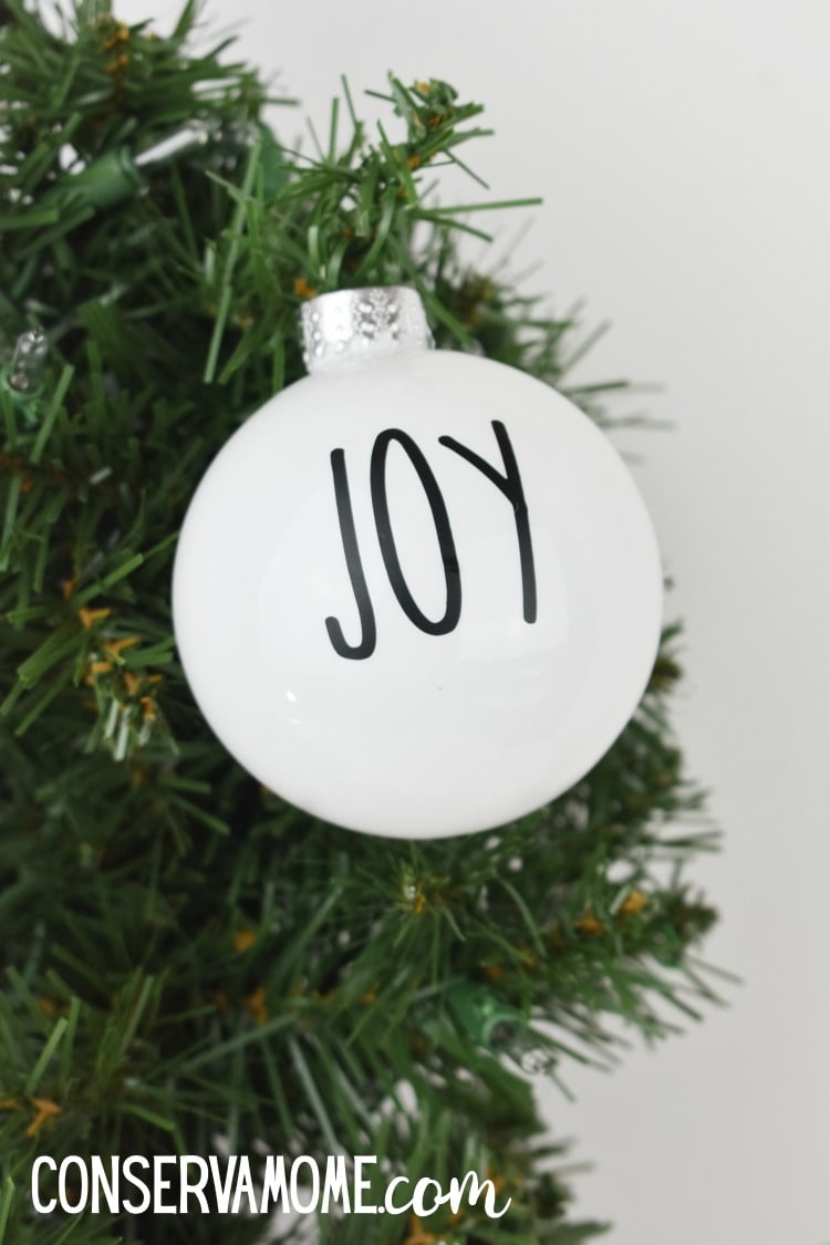 DIY Rae Dunn Christmas Tree Ornaments