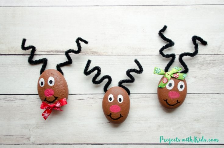 The Cutest Reindeer Painted Rocks