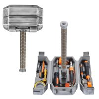 Buyton Avengers Thor Hammer Tool Set,28-Piece Household Hand Tool Kit -Thor Battle Hammer,Durable, Long Lasting Chrome Finish Tools with Thor Hammer case