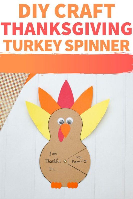 DIY Turkey Spinner Craft: A Thankfulness Activity for Kids