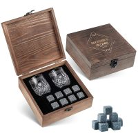 Whiskey Stones Gift Set - 8 Granite Chilling Whisky Rocks