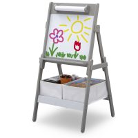 Delta Children Classic Kids Whiteboard/Dry Erase Easel with Paper Roll and Storage