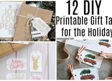12 DIY Printable Gift Tags for the Holidays
