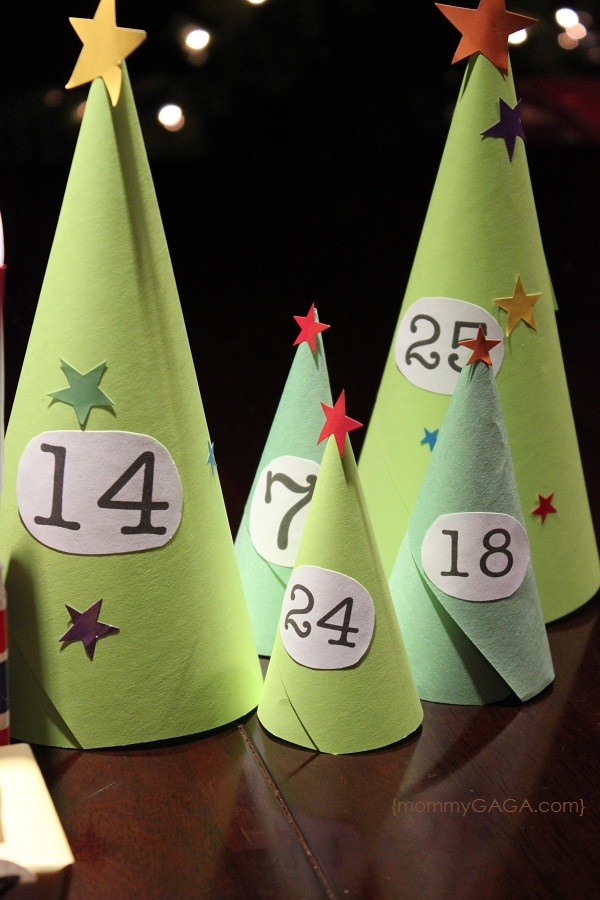 Countdown To Christmas: DIY Paper Christmas Advent Calendar Village