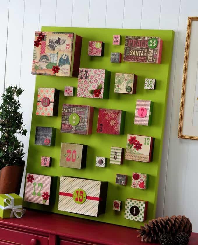 Big Box DIY Advent Calendar on Canvas