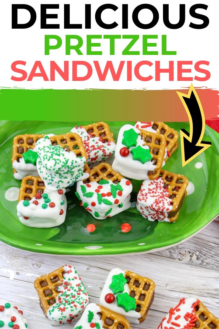 Christmas Pretzel Sandwiches