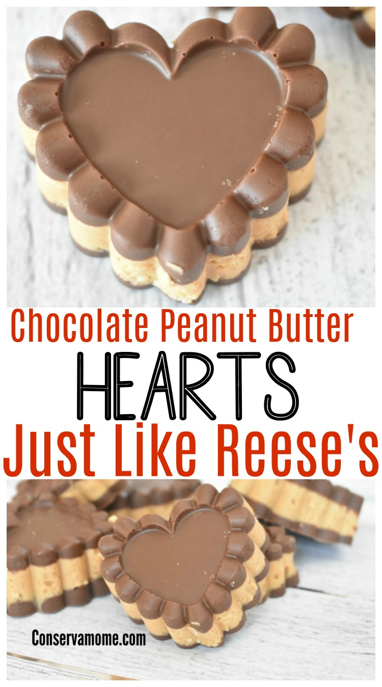 CHocolate peanut butter heart