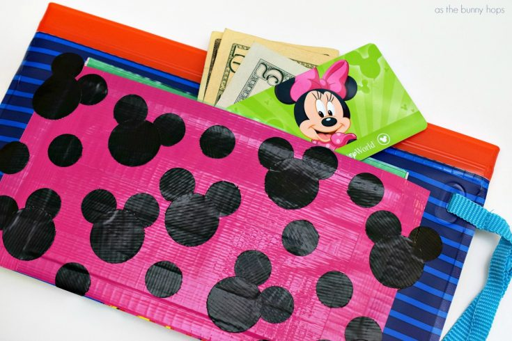 Hidden Mickey Duct Tape Pockets - As The Bunny Hops®