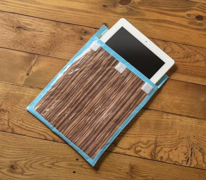 DIY iPad Case with Wood Grain Duck Tape
