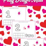 Valentine's Day Monster Playdough Mat
