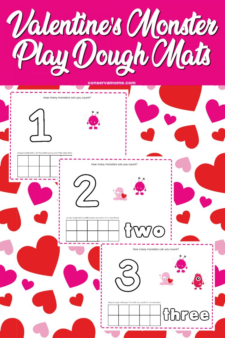 Valentine's Day Monster Playdough Mat