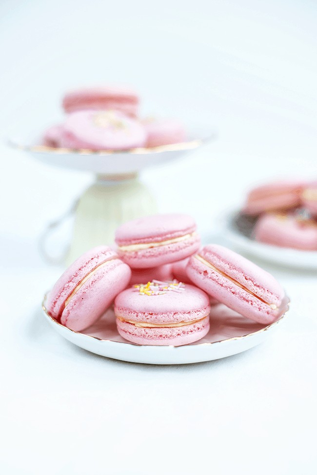 Macarons filled with clotted cream and jam - perfect for Afternoon Tea!