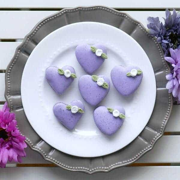 Earl Grey Macarons with Mouth-watering Lemon Swiss Buttercream (Heart Template)