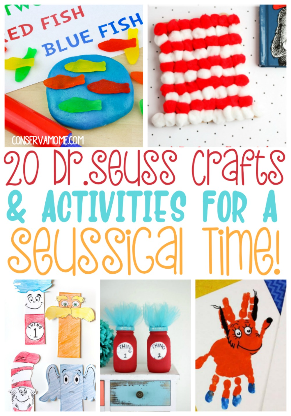 Dr.Seuss Crafts and activities for a Seussical time