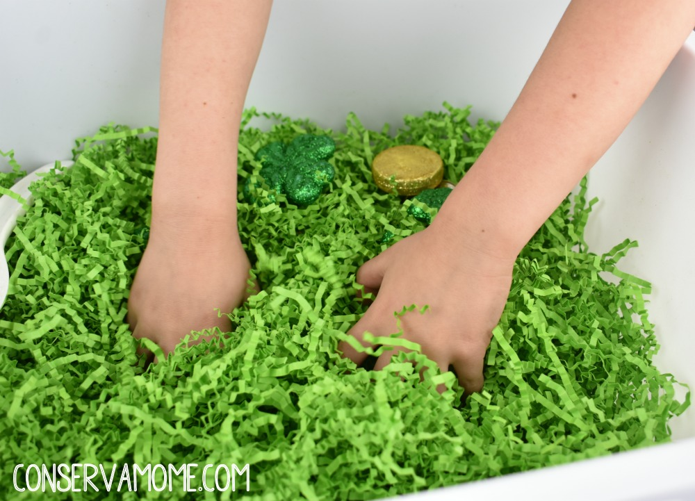 St.Patrick's Day Sensory bin idea