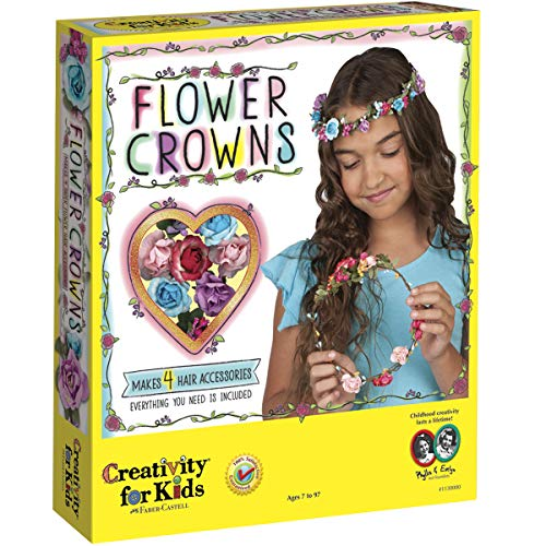 Creativity for Kids Flower Crowns - Hair Accessory Kit for Kids, Multicolored