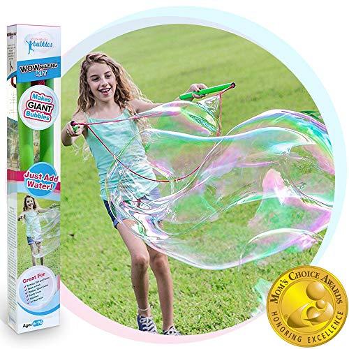 WOWMAZING Giant Bubble Wands Kit: