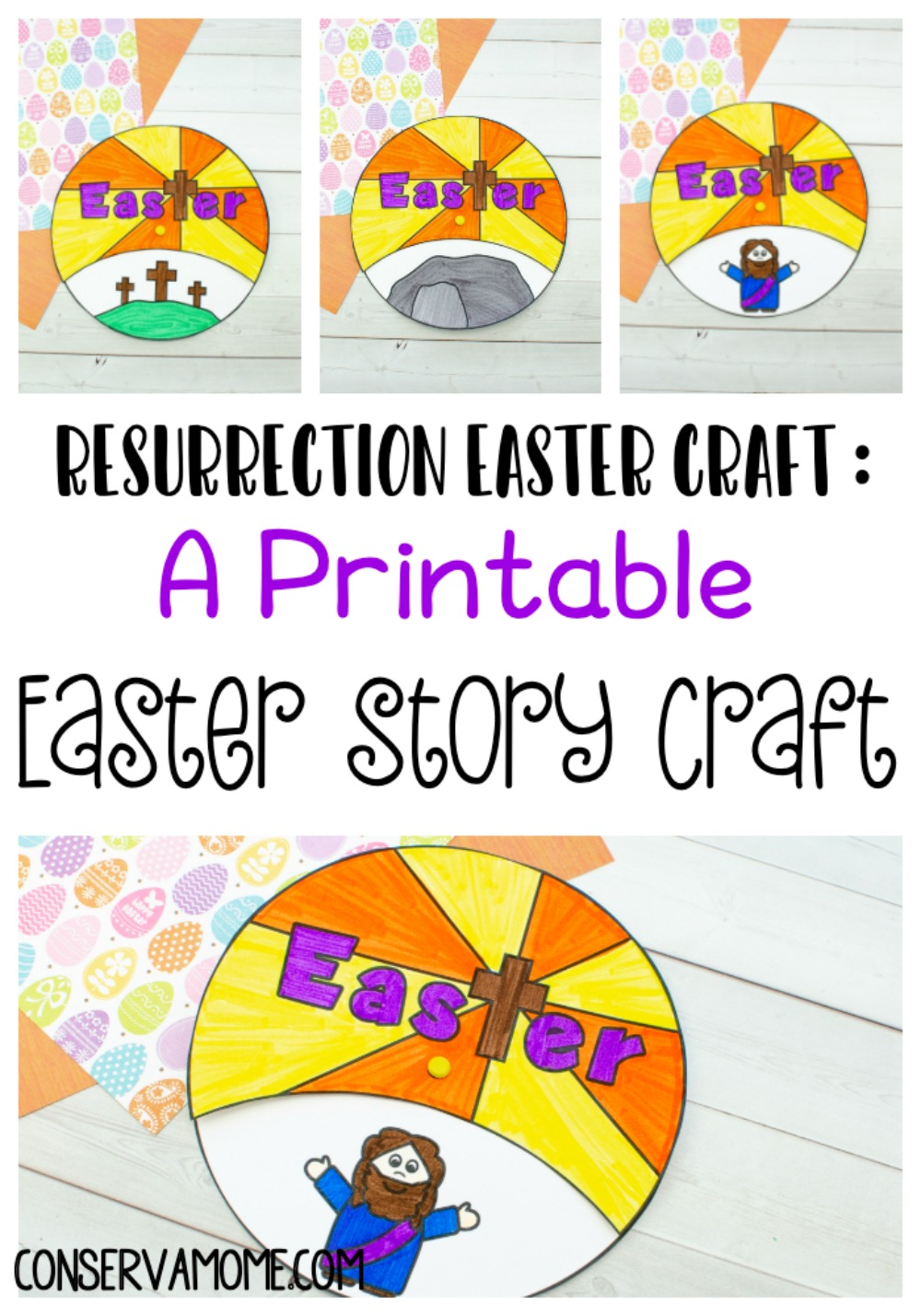 A Printable  Easter Story Craft