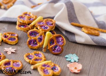 Butterfly Pretzel Snack - Easy Snack for Kids