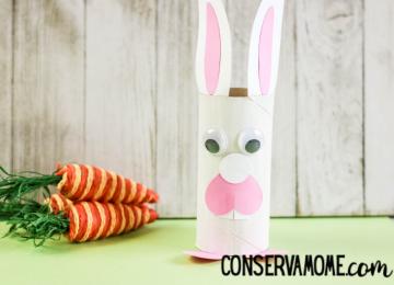 cardboard roll Easter Bunny