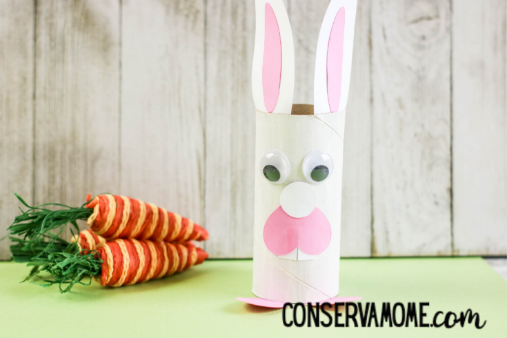 Cardboard Roll Easter Bunny : An Easy Easter Craft For kids