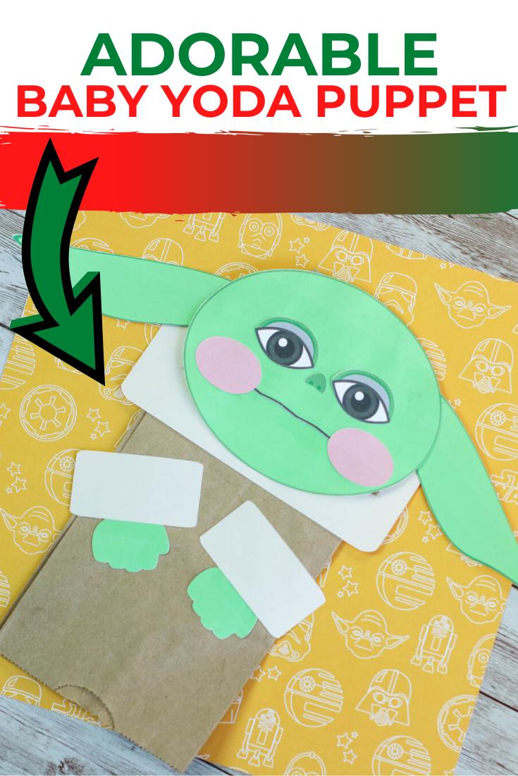 Baby Yoda Paper Bag Puppet : An Easy Baby Yoda craft