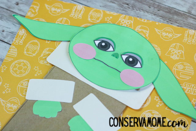Baby Yoda Paper Bag Puppet : An Easy Baby Yoda craft