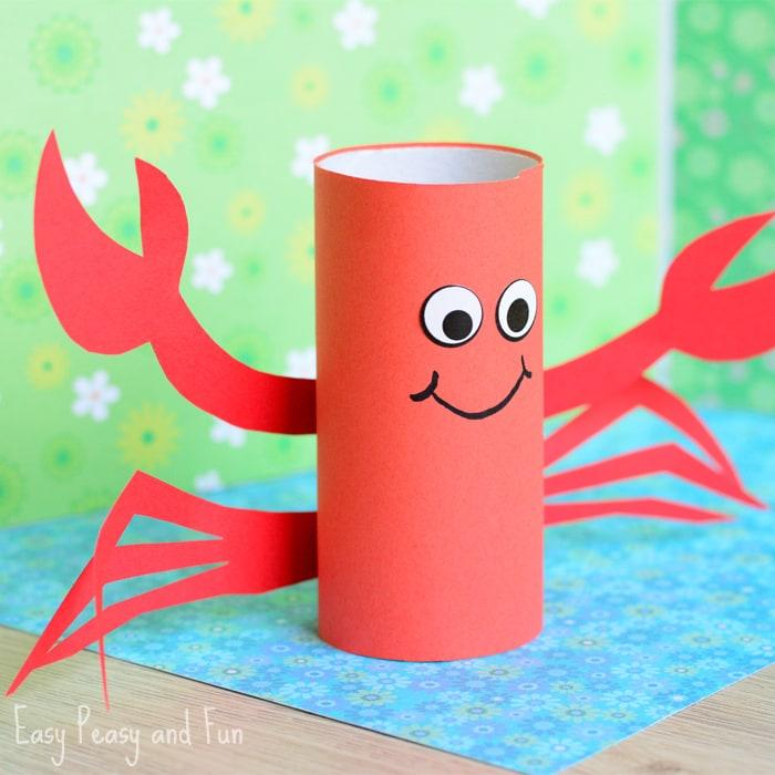 Paper Roll Crab Craft